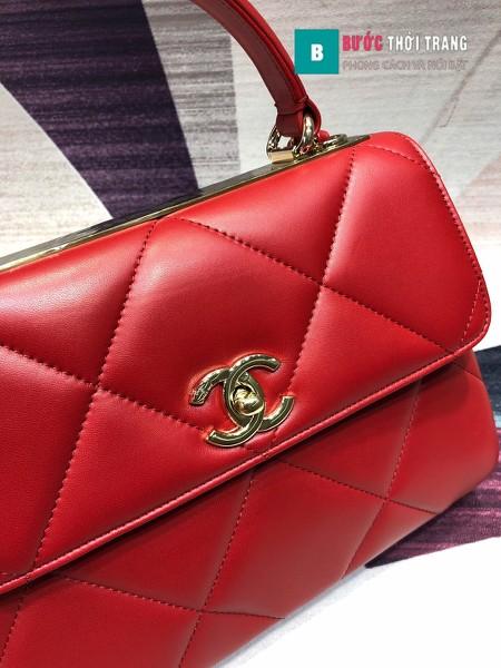 Túi Xách Chanel Trendy CC siêu cấp size 25cm màu đỏ