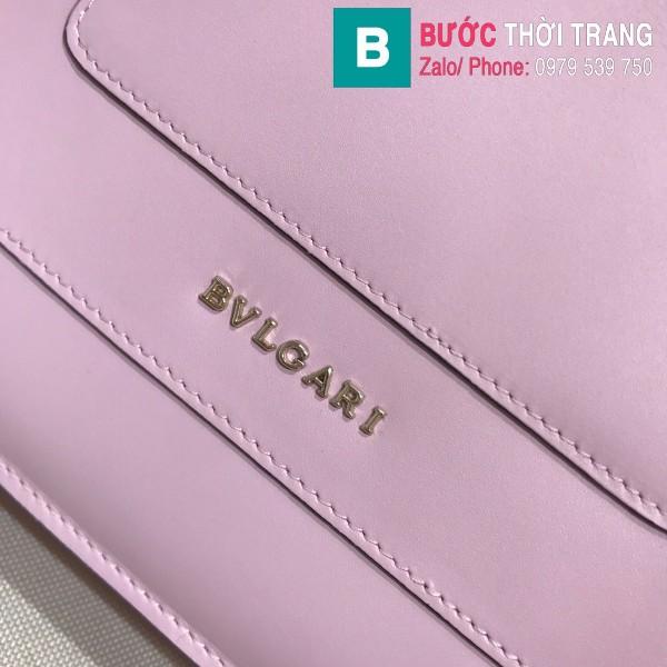 Túi Bvlgari Serventi Forever shoulder bag siêu cấp da bê màu hồng nhạt size 28cm - 35106