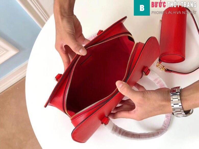 Túi xách LV Louis Vuitton Epi Soufflot Shoulder Bag siêu cấp màu đỏ size 30 cm - M52222