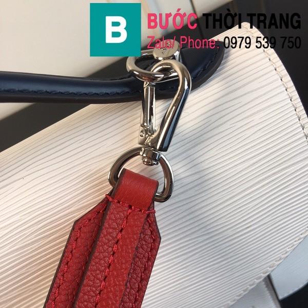 Túi xách LV Louis Vuitton Neo Monceau siêu cấp da bò sần màu trắng size 22cm - M55405