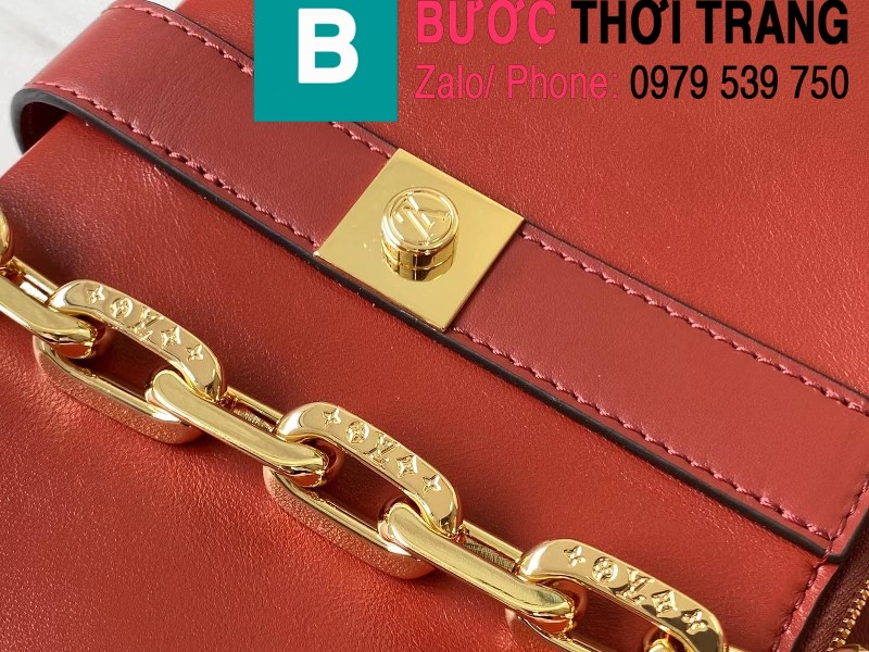 Túi xách LV Louis Vuitton Rendez-Vous Bag siêu cấp da bê màu đỏ size 22cm - M57745