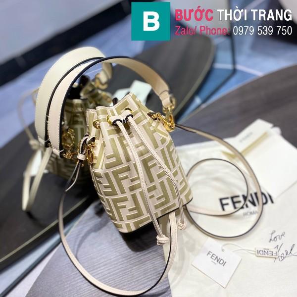 Túi xách Fendi Mon Tresor siêu cấp da bê màu trắng ngà size 12cm