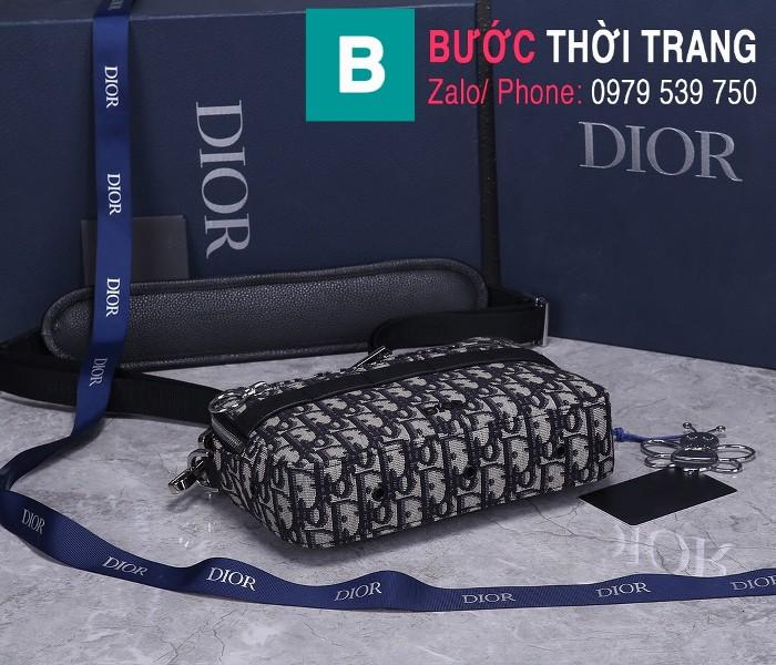 Túi xách Dior Homme Mens Bag siêu cấp vải casvan màu đen 2 size 22cm - 93307