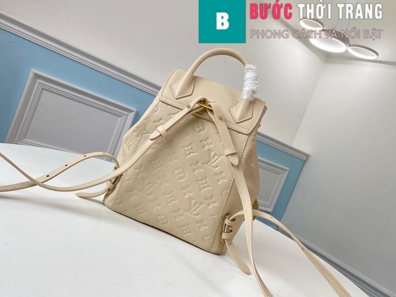 Túi Xách LV Louis Vuitton Montsouris Backpack siêu cấp màu trắng ngà size 27.5cm - M45397