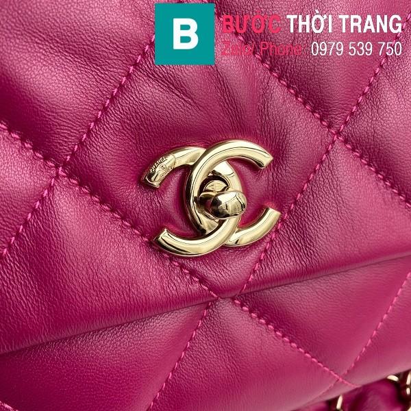 Túi xách Chanel Large Flap Bag siêu cấp da cừu màu cánh sen size 31 cm - AS2316