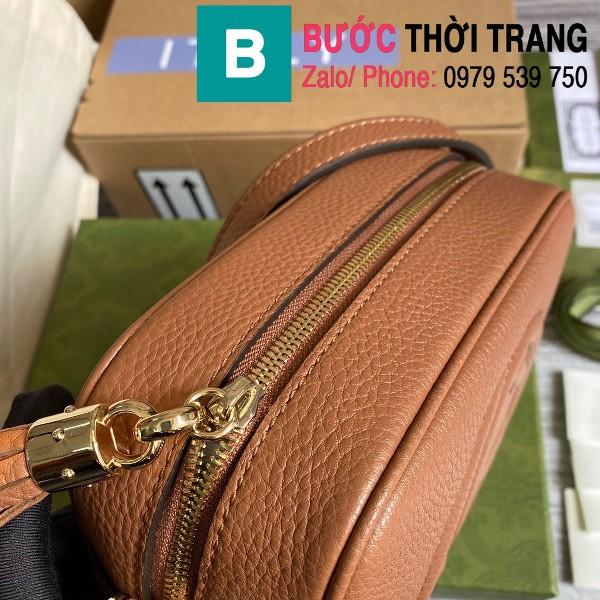 Túi xách Gucci Soho Small Leather Disco bag siêu cấp da bê màu bò size 22cm - 308364