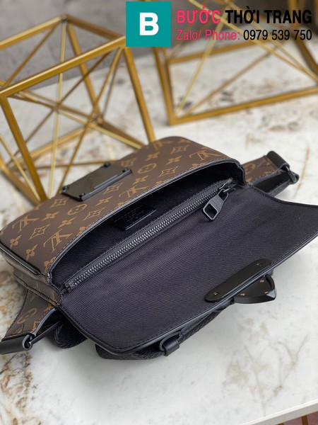 Túi xách Louis Vuitton S Lock Sling Bag siêu cấp monogram viền đen size 21cm - M45807