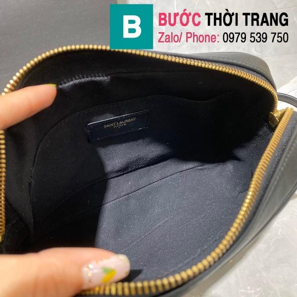 Túi đeo chéo YSL Saint Laurernt Lou siêu cấp da bê màu đen tag vàng size 23cm - 520534