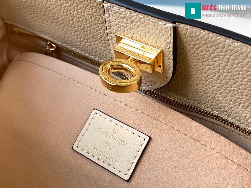Túi xách LV Louis Vuitton On my side siêu cấp màu be xám size 30.5 cm - M55802