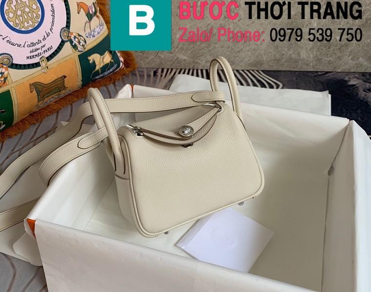Túi xách Hermes Lindy siêu cấp da thật màu trắng size 26cm