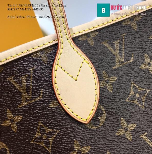 Túi LV NEVERFULL MM siêu cấp họa tiết LV lót hồng nhạt 32cm - M41178