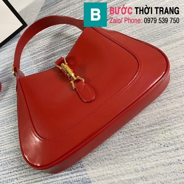 Túi xách Gucci Jackie 1961 small hobo bag siêu cấp màu đỏ size 28 cm - 636709
