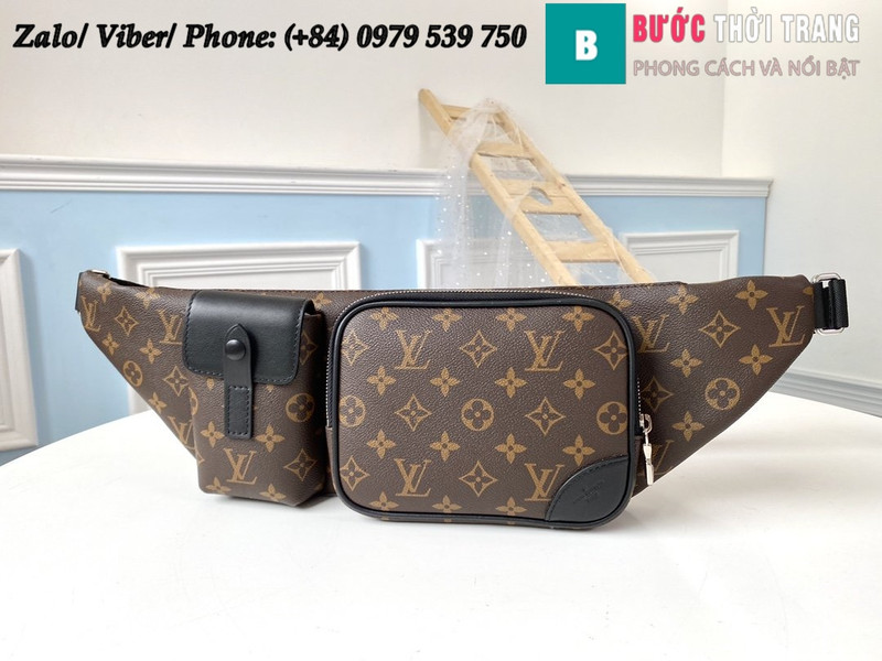 Túi Louis Vuitton Christopher Bumbag Monogram Macassar - LV M45337