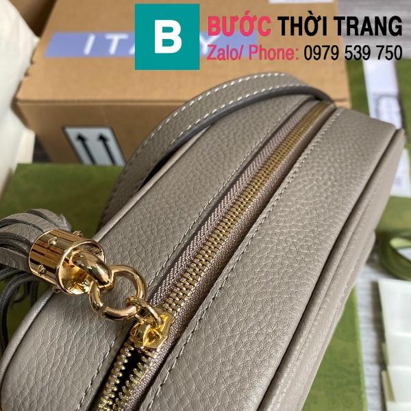 Túi xách Gucci Soho Small Leather Disco bag siêu cấp da bê màu xám size 22cm - 308364