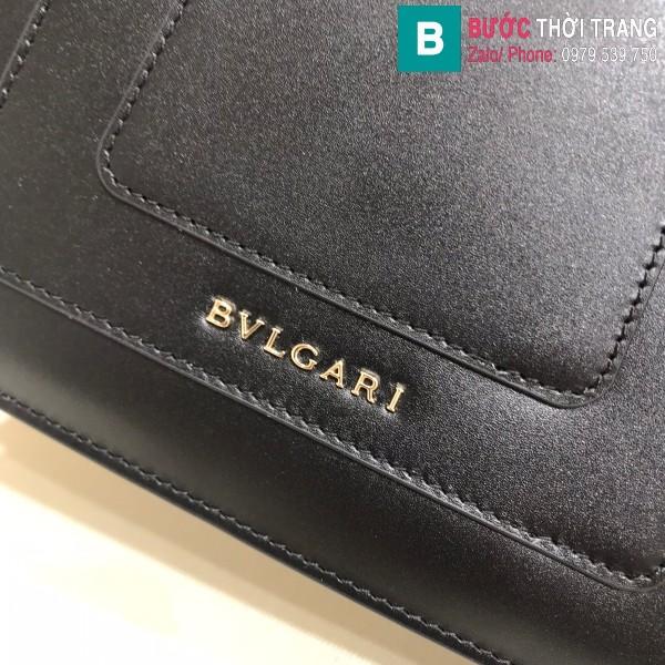 Túi xách Bvlgari serventi forever siêu cấp da bê màu đen size 20 cm