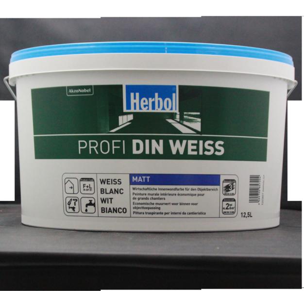 Herbol Profi DIN 12,5L Weiss, Innenfarbe