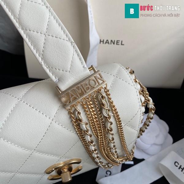 Túi xách Chanel Woke Classic Fap siêu cấp màu đen trắng cừu size 15 cm - AS2052