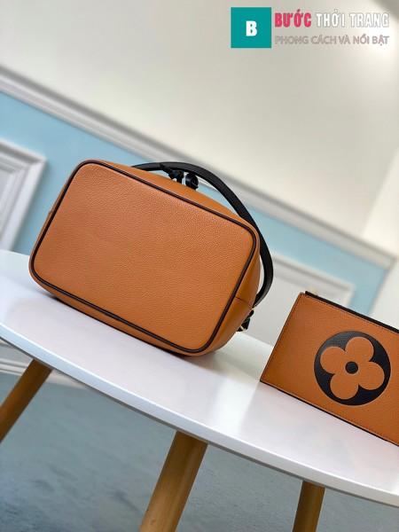 Túi xach LV Louis Vuitton Crafty NéoNoé MM siêu cấp màu cam đậm size 26 cm -M56888