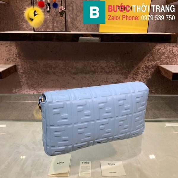 Túi xách Fendi Baguette bag siêu cấp da nappa màu xanh thanh size 32cm