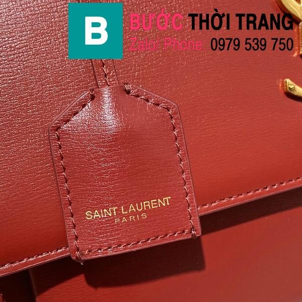 Túi xách YSL Saint Laurernt Sunset siêu cấp da bê màu đỏ đô size 25cm - 634723
