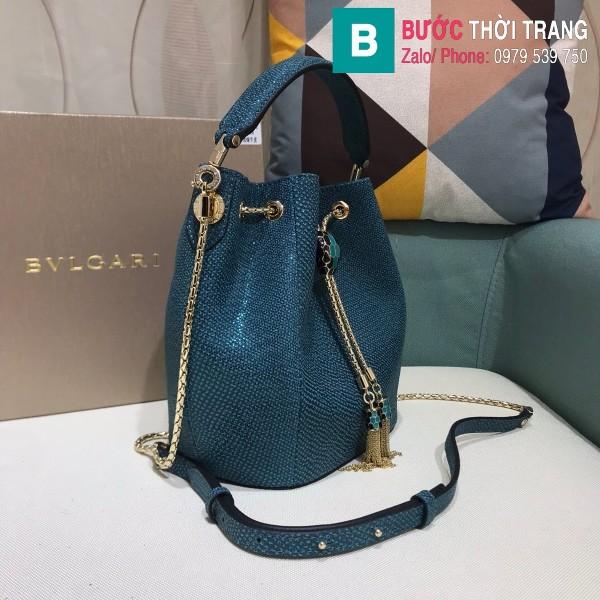Túi Bvlgari Serventi Forever Bucket bag siêu cấp kakung màu 2 size 16cm - B287641