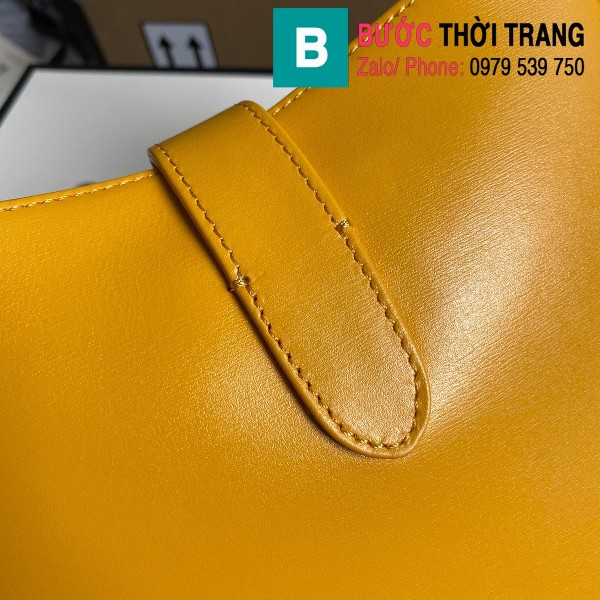 Túi xách Gucci Jackie 1961 small hobo bag siêu cấp màu vàng size 28 cm - 636709