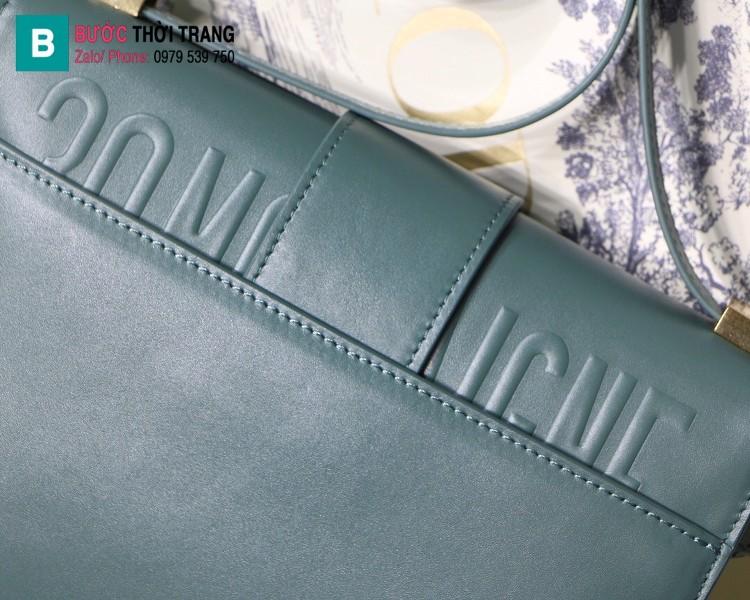Túi xách Dior 30 Montaigne siêu cấp da bê màu xanh size 24 cm