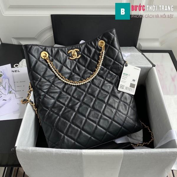 Túi xách Chanel Shopping Bag siêu cấp màu đen size 34 cm - AS2213