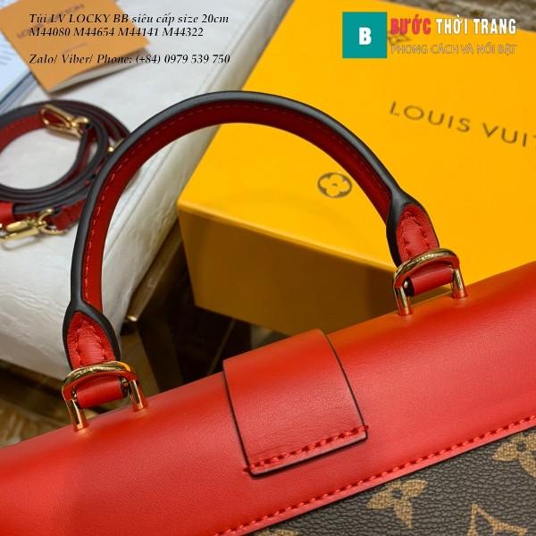 Túi LV LOCKY BB siêu cấp size 20cm màu đỏ - M44322