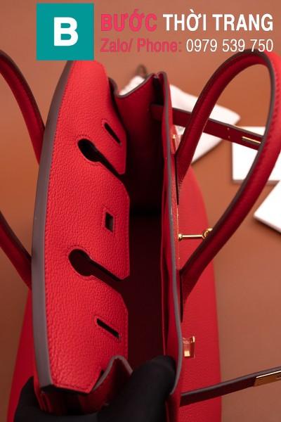Túi xách Hermes Birkin siêu cấp da bê Togo màu đỏ size 30cm
