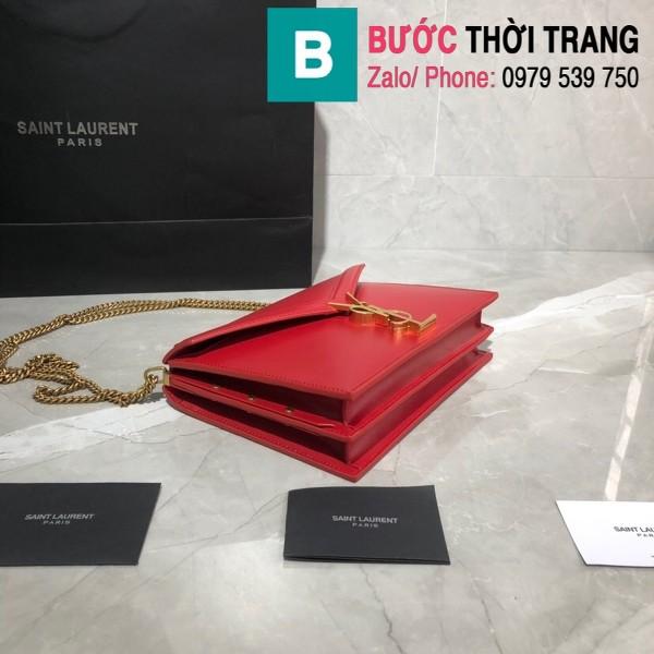 Túi xách YSLSaint Laurent Casandra bag siêu cấp màu đỏ size 22cm - 532750