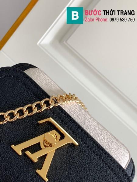 Túi xách Louis Vuitton Lockme Tender siêu cấp da bê màu đen size 19cm