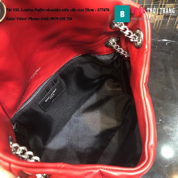 Túi YSL Loulou Puffer shoulder siêu cấp màu đỏ size 29cm - 577476
