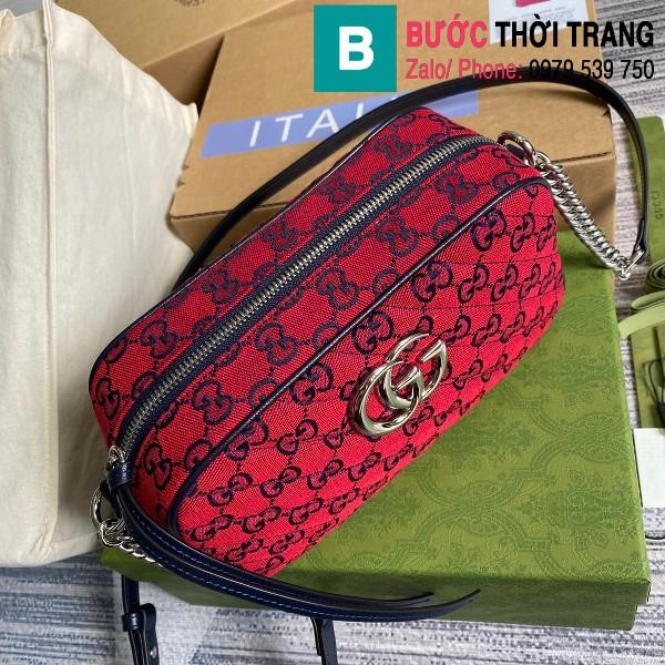 Túi xách Gucci Marmont small shoulder bag siêu cấp casvan màu đỏ size 24cm - 447632