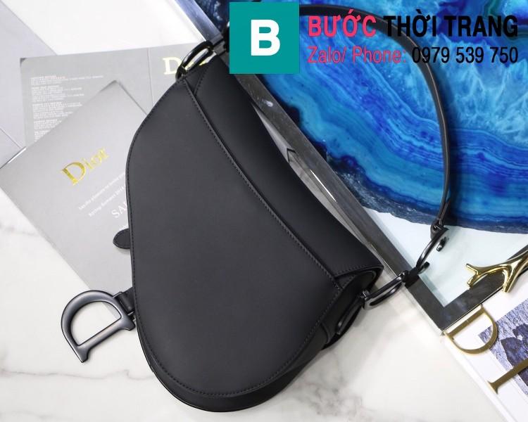 Túi xách Dior Saddle Bag siêu cấp chất liệu da bê màu đen size 25.5cm