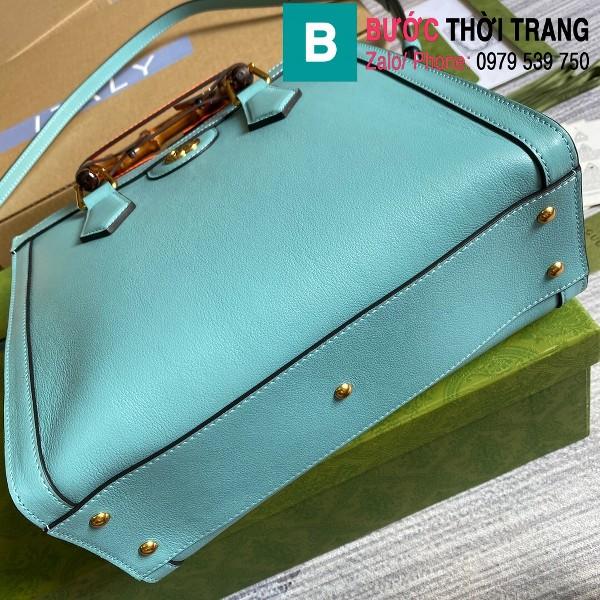 Túi xách Gucci Diana small tote bag siêu cấp da bê màu xanh lam sáng size 27cm - 660195