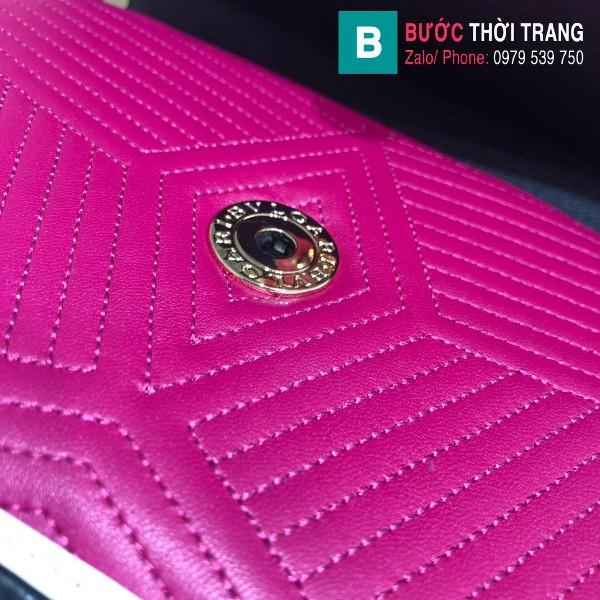 Túi xách Bvlgari Seventi Diamond Blast siêu cấp da bê màu tím size 24 cm - B286628