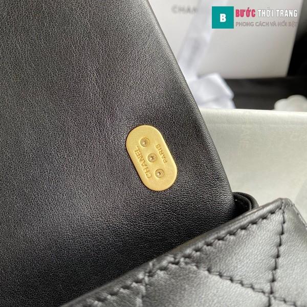 Túi xách Chanel Flap Shoulder bag siêu cấp màu đen size 21 cm -  AS2210