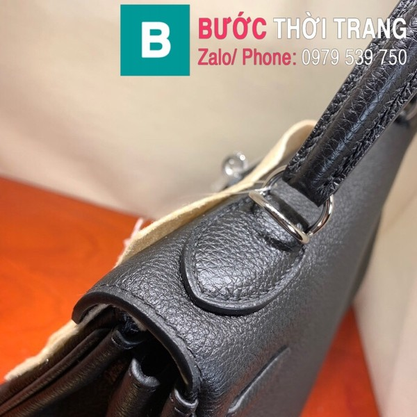 Túi xách Hermes Kelly siêu cấp da togo màu đen size 28cm