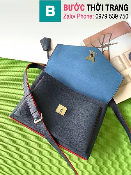 Túi xách Louis Vuitton Mylockme siêu cấp da bê màu xanh đen size 28 cm - M53197