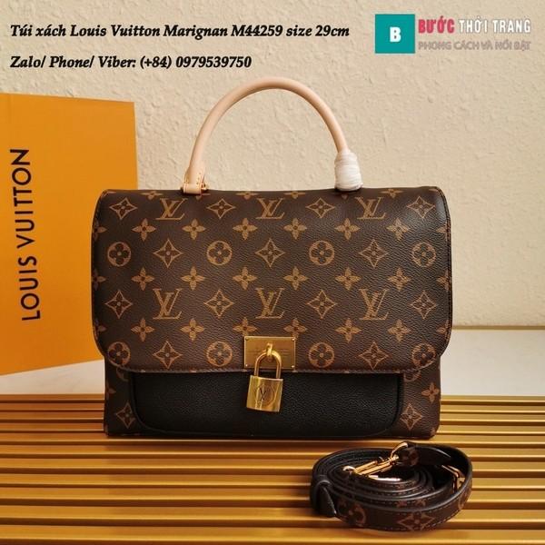 Túi xách LV Marignan siêu cấp màu đen size 29cm kiểu xách tay - M44259
