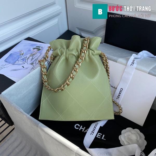 Túi xách Chanel Shopping Bag siêu cấp da cừu size 22cm xanh cốm - AS2169