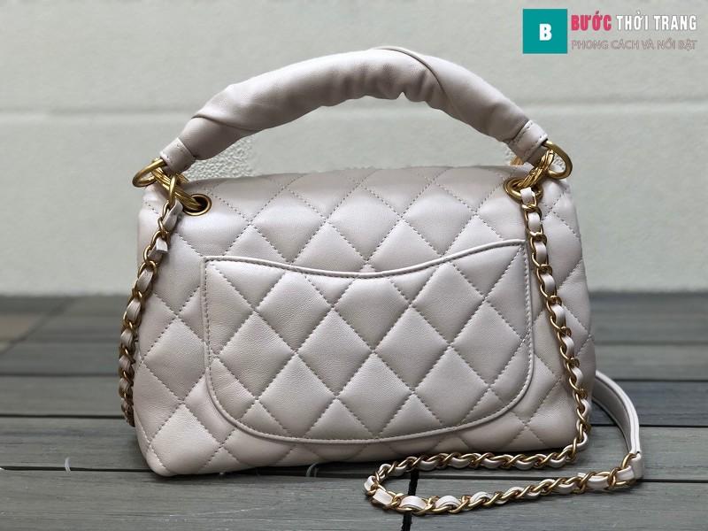 Túi xách Chanel Ohanel siêu cấp màu trắng ngà size 25 cm - AS2044