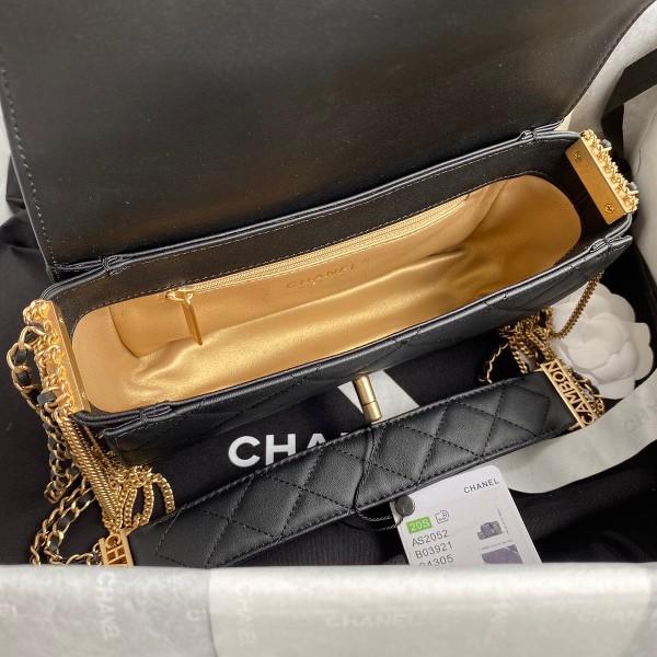 Túi xách Chanel Woke Classic Fap siêu cấp màu trắng đen cừu size 21 cm - AS2052