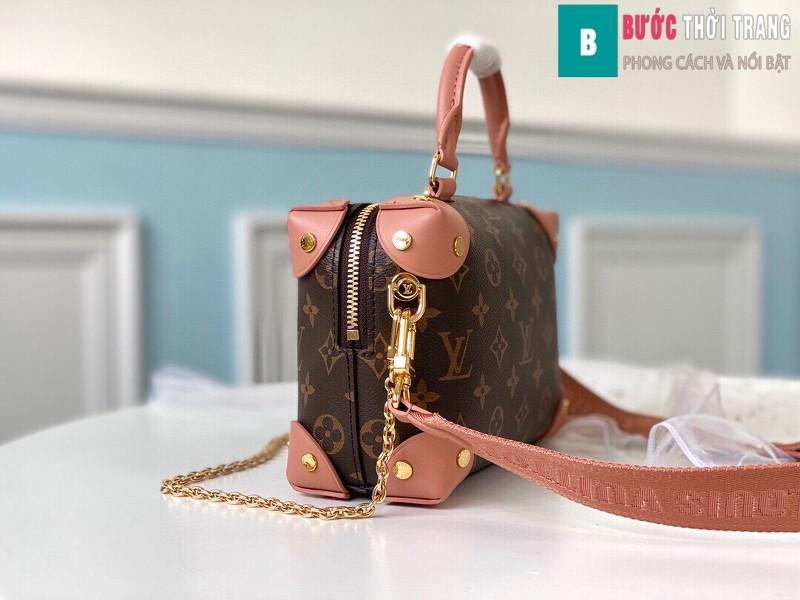Túi xách LV Louis Vuitton Petite malle souple siêu cấp màu hồng size 20 cm - M45531