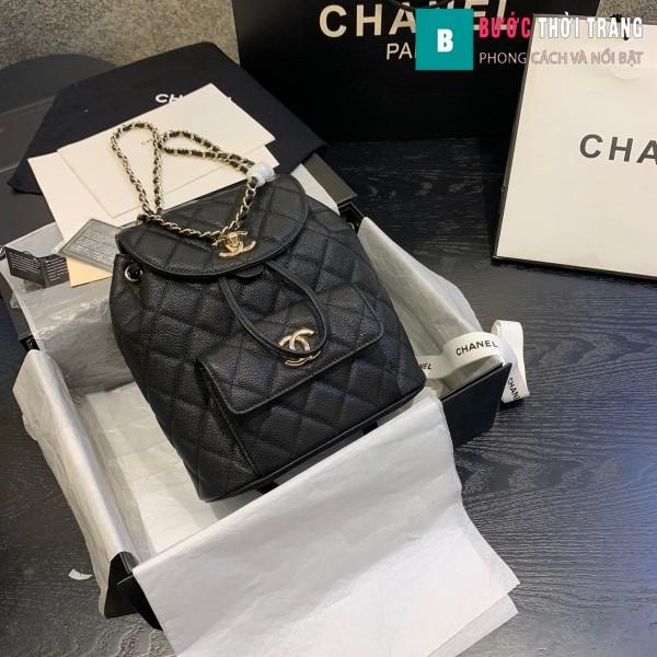 Túi xách Chanel duma backpack màu đen size 21.5 cm - AS 1371