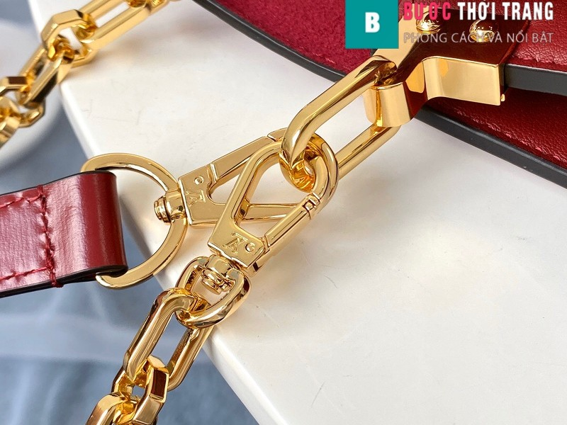 Túi xách LV Louis Vuitton Dauphine MM siêu cấp màu đỏ size 25cm - M55735