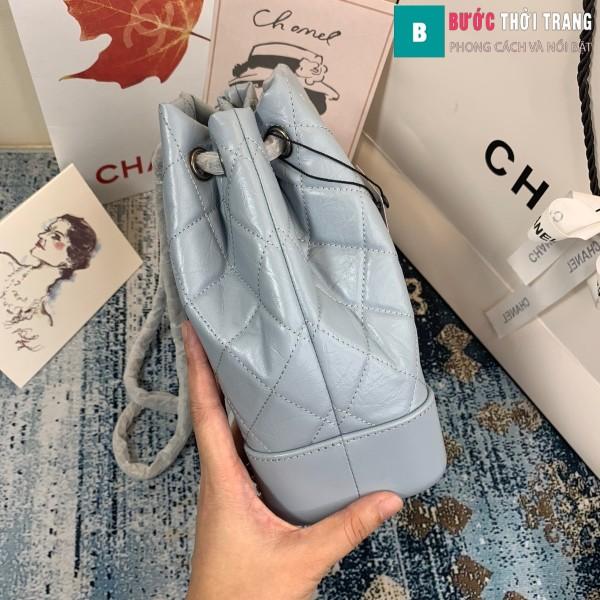 Túi xách Chanel Gabrielle Backpack siêu cấp màu xanh nhạt size 24cm - A94485