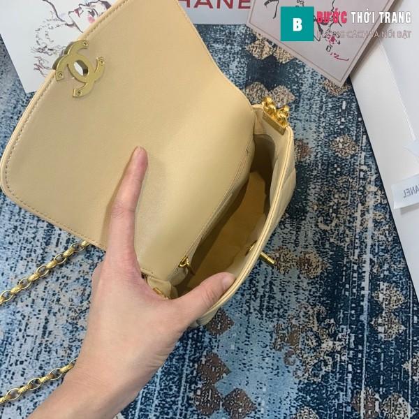 TÚi xách Chanel Small flap Bag siêu cấp màu trắng ngà size 17.5 cm - AS2189