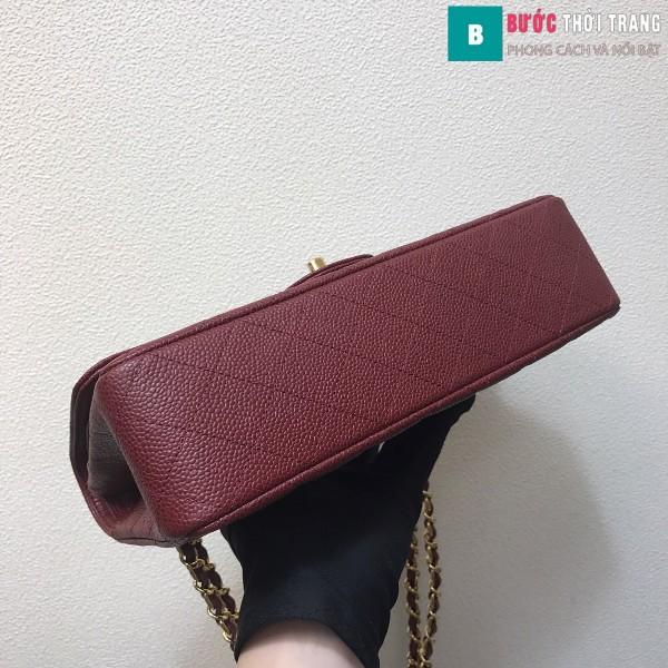 Túi xách Chanel Classic siêu cấp màu đỏ đô size 25 cm - 1112